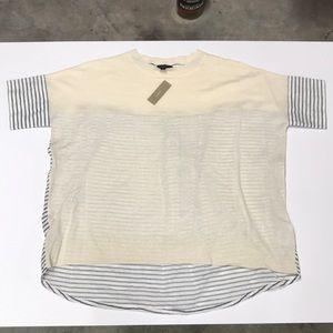 NWT linen J Crew Knit Tunic - stripes